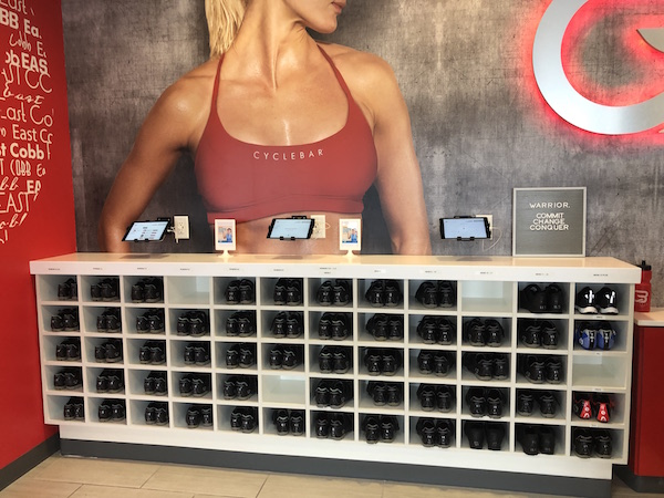 CycleBar spin shoes