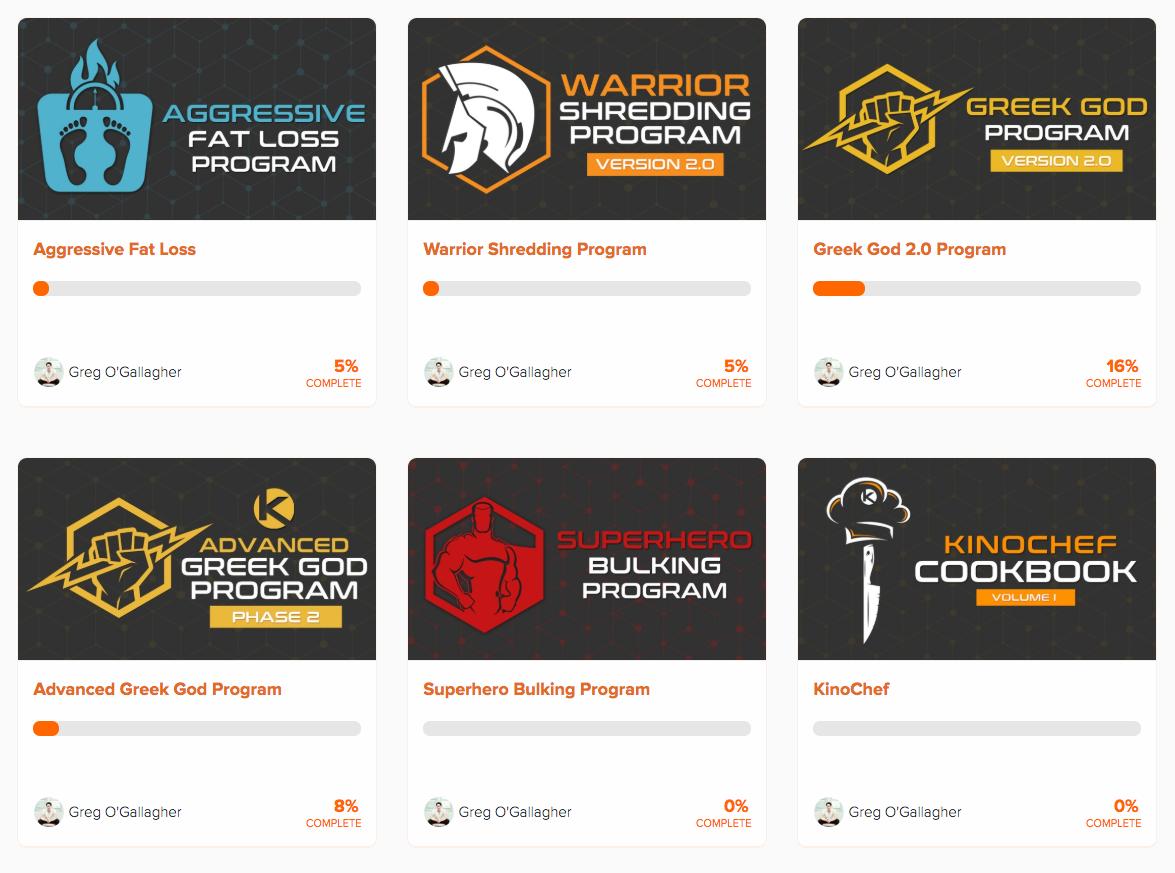 Kinobody programs page